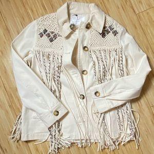 NWT Zara Fringe jacket